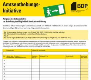 Amtsenthebungsinitiative Initiativbogen